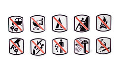 Prohibition sign. In white background Royalty Free Stock Image
