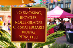 Prohibition signboard. Stock Image