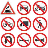 Prohibition Signs in Argentina Royalty Free Stock Photos