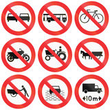 Prohibition Signs In Chile Royalty Free Stock Image