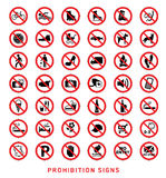 Prohibition signs Stock Photography