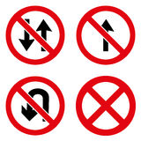 Prohibition signs icons set great for any use. Vector EPS10. Stock Photo