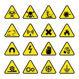 Prohibition signs industry production vector warning danger symbol Stock Photos