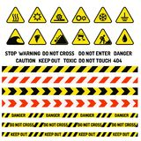 Prohibition signs industry production vector warning danger symbol Stock Photo