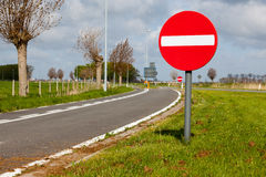 THE PROHIBITION SIGNS Royalty Free Stock Images
