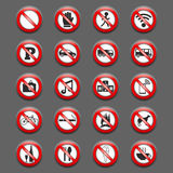 Prohibition Signs vector illustration