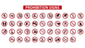 Prohibition signs Royalty Free Stock Image