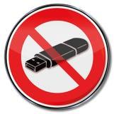 Prohibition for usb-sticks Royalty Free Stock Photos