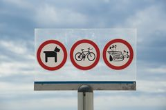 Prohibitions on the beach Royalty Free Stock Photo