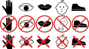 Prohibitions Stock Photo