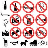 prohibitory знаки Стоковое Изображение