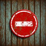 Prohibitory road Signal on a wooden wall Stock Photography