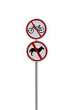 Prohibitory road signs Stock Images