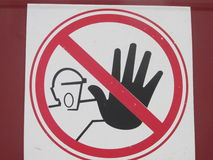 Prohibitory sign. Wait! the entrance is forbidden!do not enter,safety,occupational safety Stock Photography