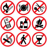 Prohibitory signs Stock Images