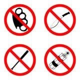 Запрещающие знаки Royalty Free Stock Images