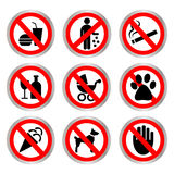 Prohibitory signs. Royalty Free Stock Photos