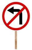 Prohibitory traffic sign - Left turn Royalty Free Stock Photo