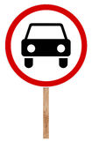 Prohibitory traffic sign - Movement Car Prohibition Stock Image