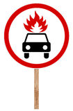 Prohibitory traffic sign - Movement flammable cargo Stock Photography