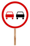 Prohibitory traffic sign - Overtaking Stock Photography
