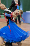 Prohorenko Dmitry and Rymchenok Valeriya Perform Youth-2 Standard Program on National Championship Royalty Free Stock Photo