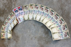 Proiba em Rs 500, Rs que 1000 notas são greve cirúrgica no financiamento do terror, dinheiro preto Fotos de Stock Royalty Free