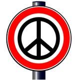 Proiba o sinal de estrada da bomba Fotografia de Stock