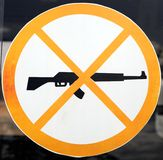 Proibição da espingarda de assalto Fotografia de Stock Royalty Free