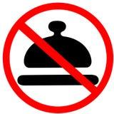 Proibição não permitida especial da refeição sinal de estrada vermelho circular isolado no fundo branco Imagem de Stock