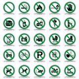 Proibição 25 & sinais de aviso - Iconset ilustração royalty free