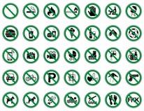 Proibição 35 & sinais de aviso - Iconset ilustração do vetor