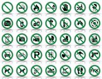 Proibição 35 & sinais de aviso - Iconset ilustração royalty free