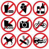 Proibido Foto de Stock