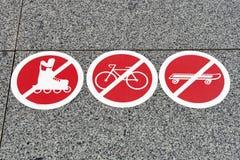 Proibindo sinais Imagem de Stock