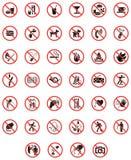 Proibire i segni Fotografie Stock
