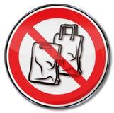 Proibizione per i sacchetti di plastica Fotografia Stock