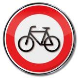 Proibizione per le bici illustrazione di stock