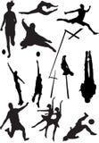 Proietti la vista dei motivi umani, gli sport, posizioni Fotografie Stock