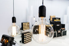 Proiettore del corridoio di illuminazione equipment immagini stock libere da diritti