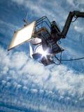 Proiettore di luce del giorno di HMI che appende II fotografia stock