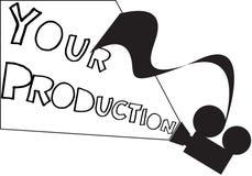 Proiettore la vostra produzione Fotografia Stock