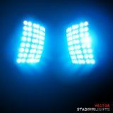 Proiettori dello stadio di vettore Immagini Stock