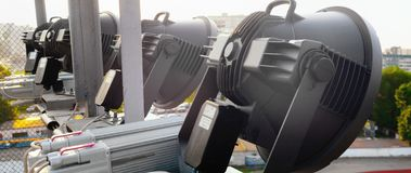 Proiettori elettrici ad altezza immagine stock libera da diritti