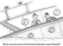 Proiezioni finanziarie Immagini Stock Libere da Diritti