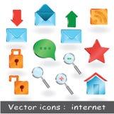 12 Proikonen für Netzdarstellung oder für Website Lizenzfreies Stockfoto