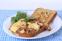Proiscuitto Ham and Egg Sandwich Stock Photography