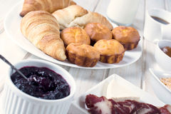 Proja and croissants Royalty Free Stock Image
