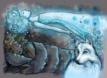 Projeção astral ilustração royalty free