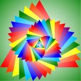 Projeção colorida de um triângulo Fotos de Stock Royalty Free
